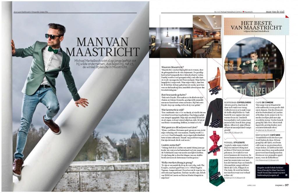 Esquire man van de stad Maastricht