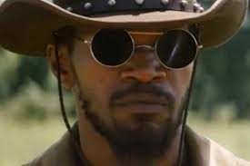 Jamie Foxx ronde zonnebril in Django Unchained