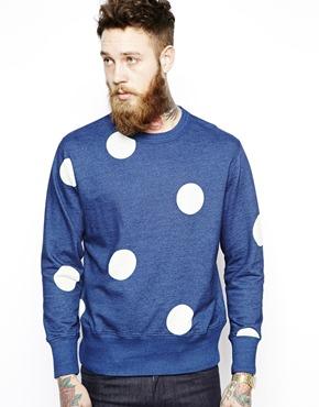 YMC sweater met stippenprint