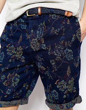 Shorts met bloemenprint River Island