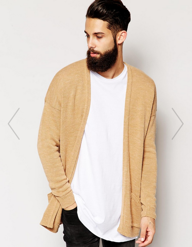 ASOS   ASOS Longline Cardigan with Open Front at ASOS